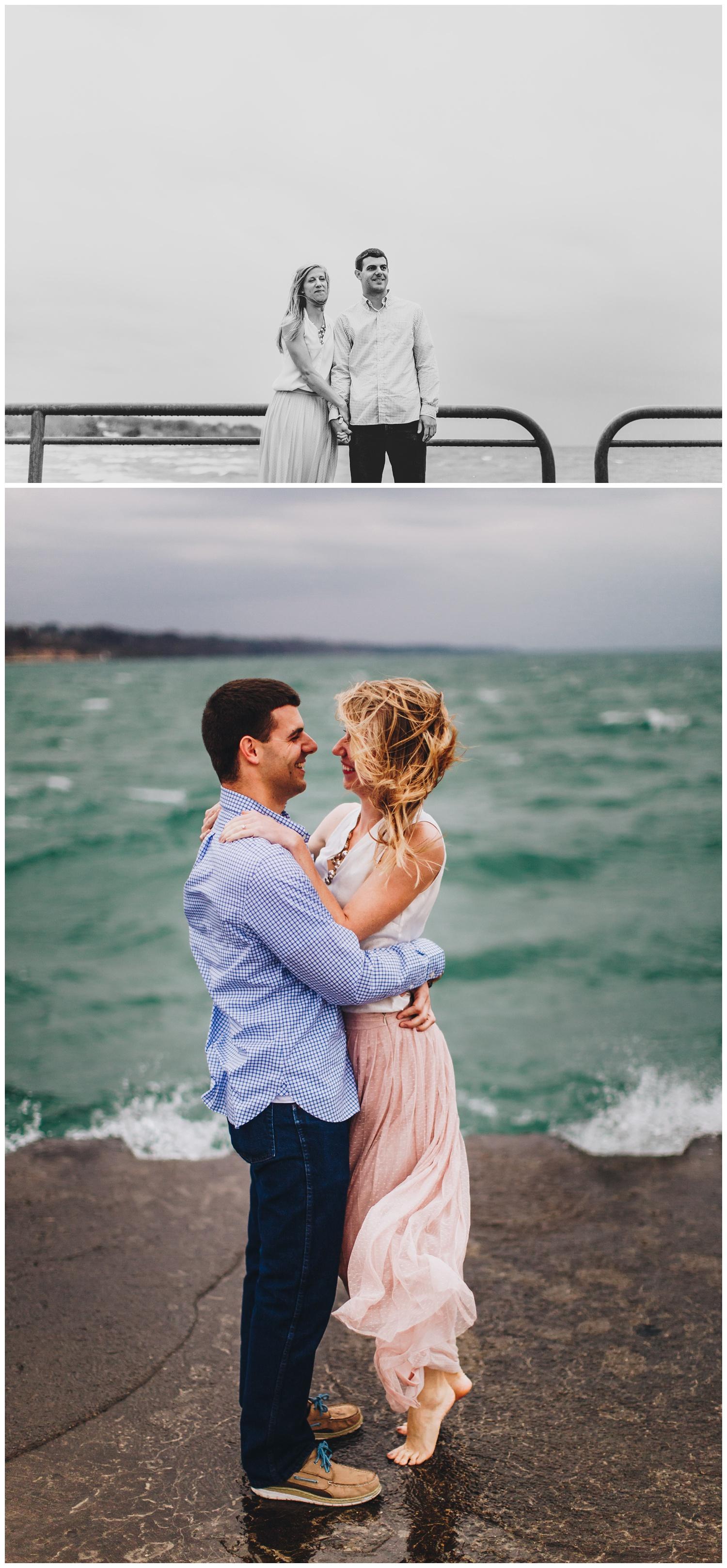 Lake_Michigan_Lightouse_Engagement_Photos_StJoseph_Pier