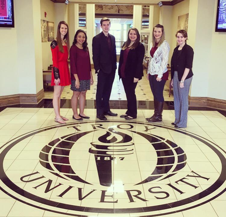 Troy University 2015-2016 alpha lambda delta Officers