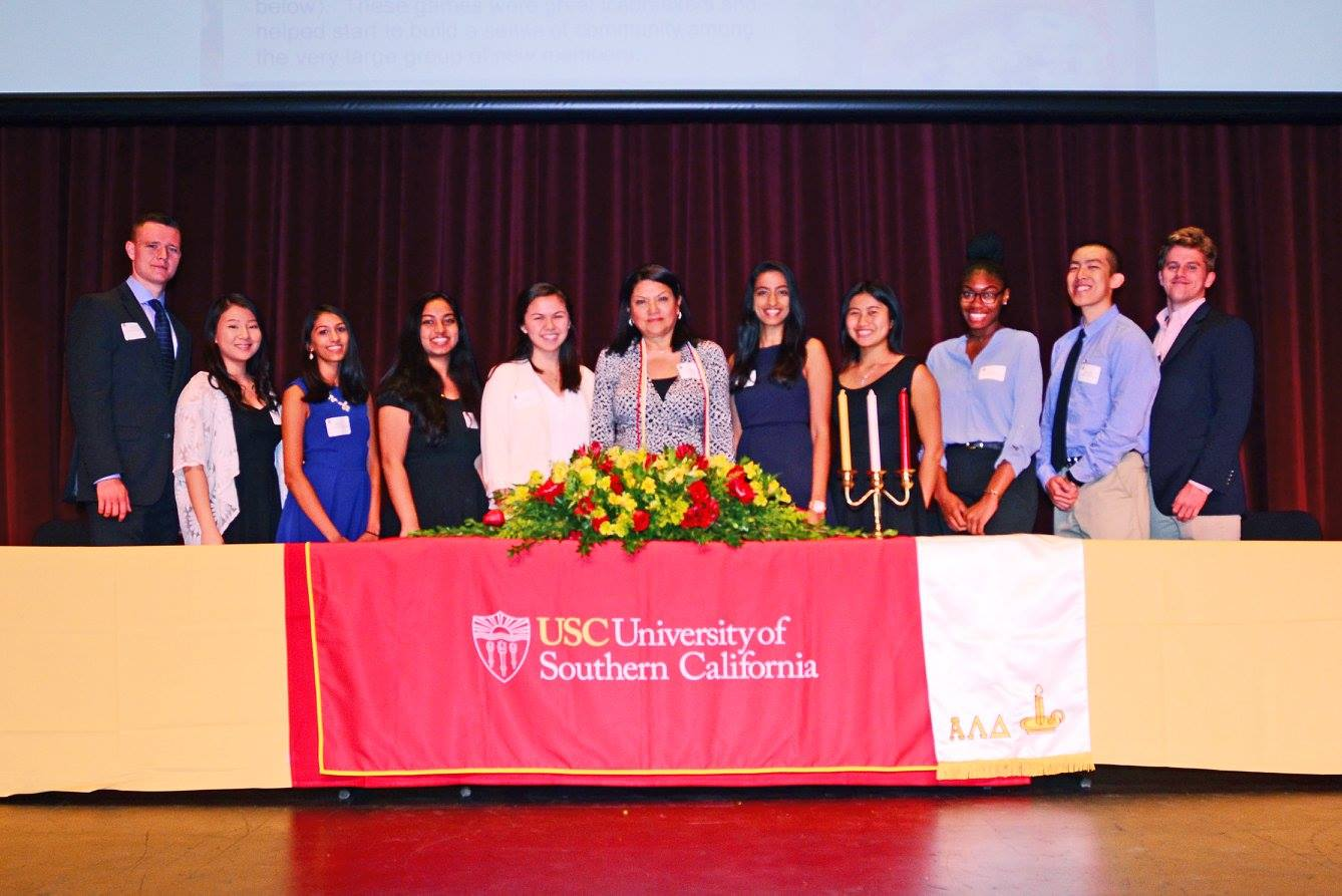 induction ceremony at the university of southern california