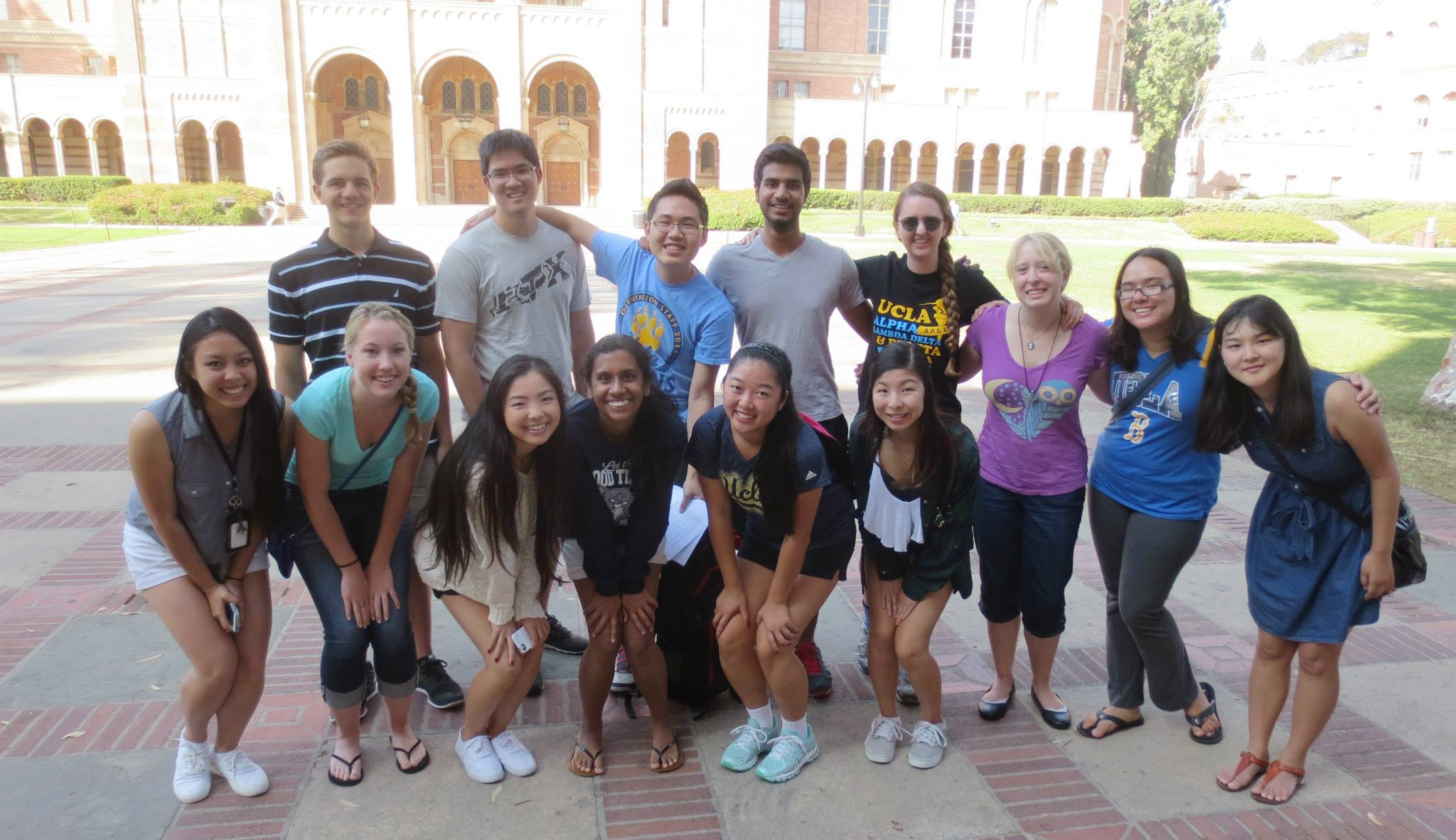 university of california - los angeles members getting ready for a scavenger hunt