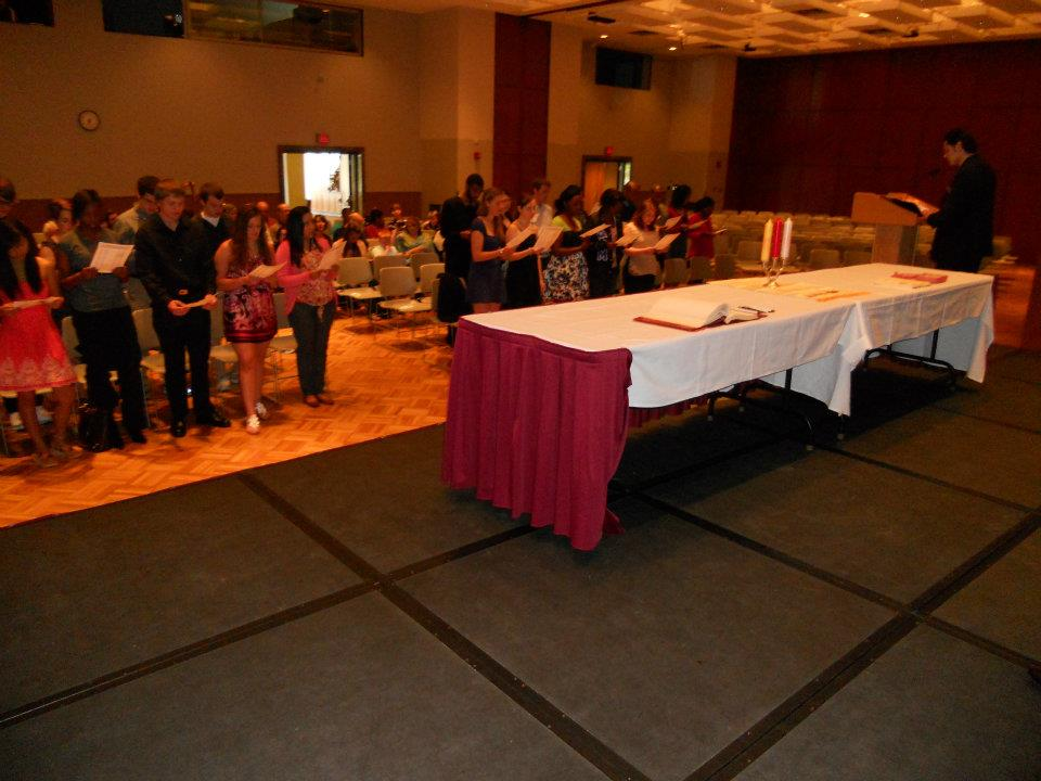 southern illinois university - carbondale members reciting the alpha lambda delta pledge