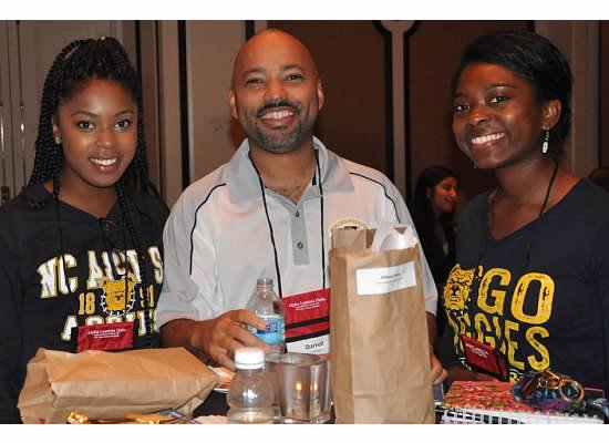 north carolina a&t students and advisor at alpha lambda delta's annual leadership conference