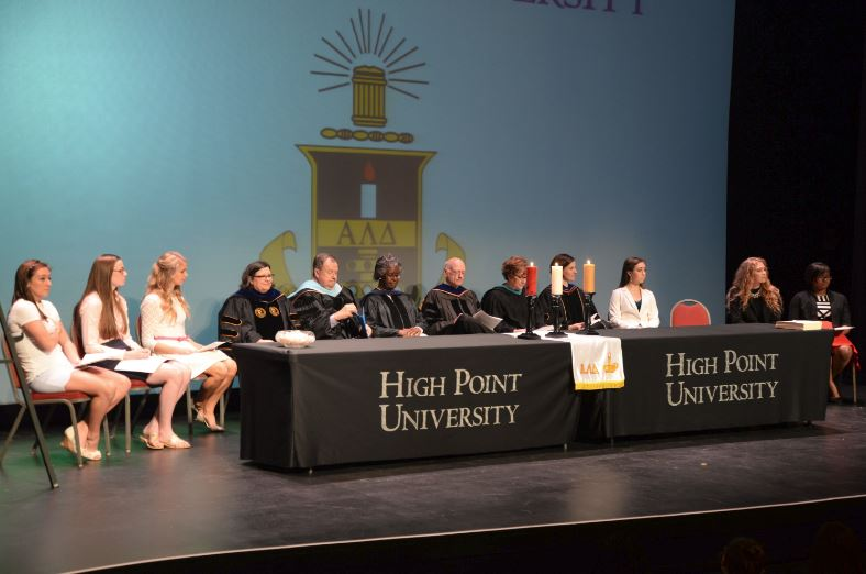 high point university chapter installation