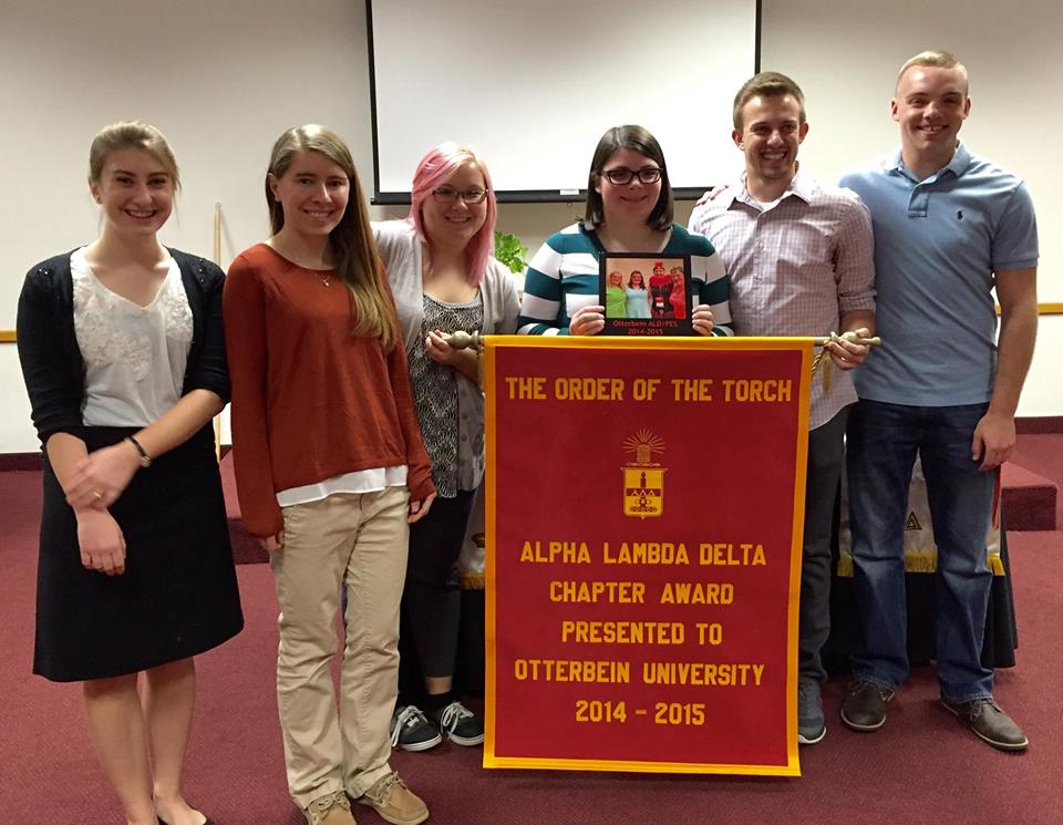 otterbein university receiving the order of the torch award