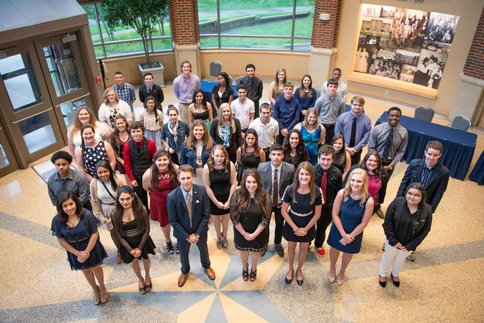texas A&M University - Commerce new members at their induction