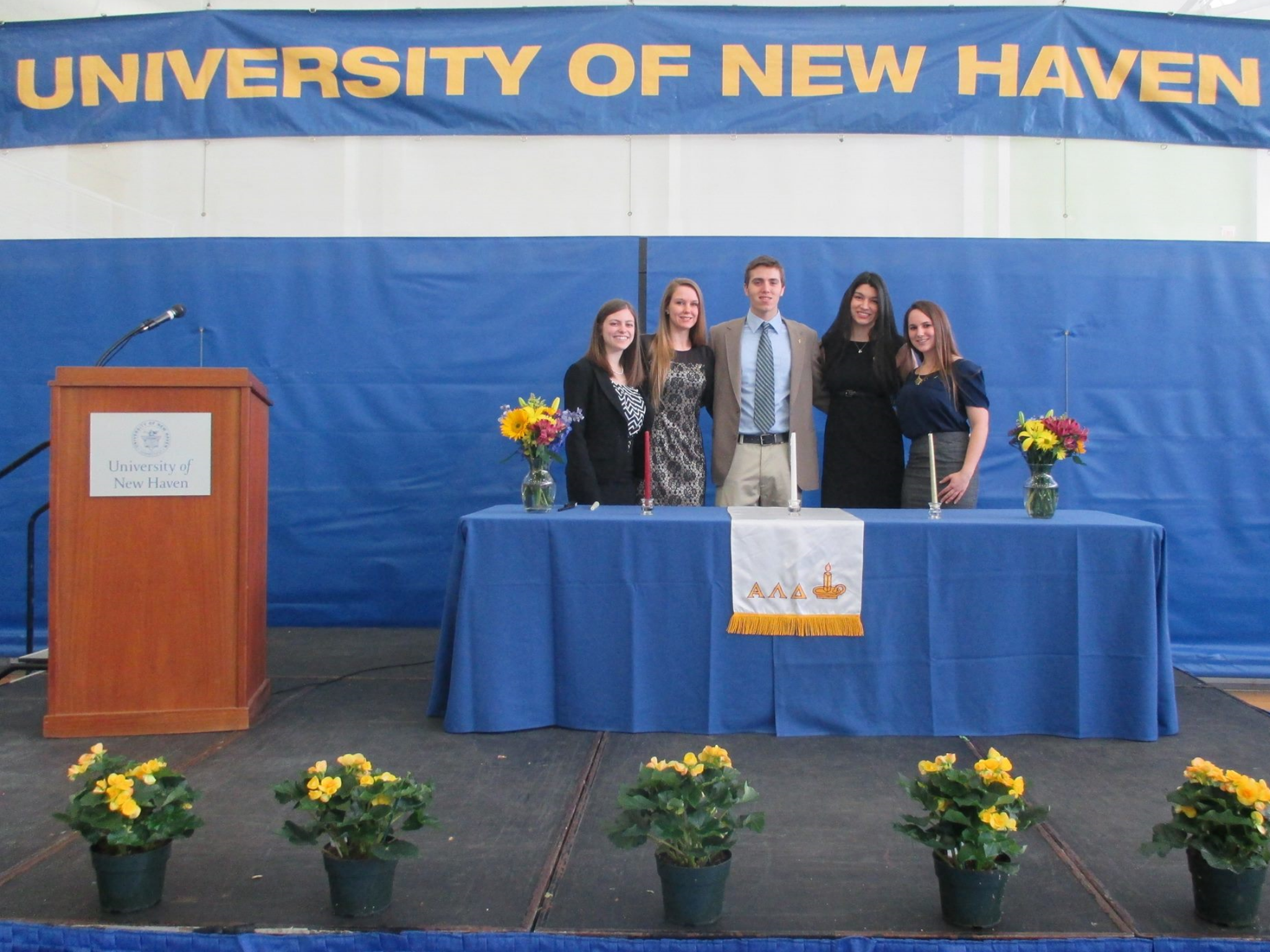 Induction ceremony at the university of new haven