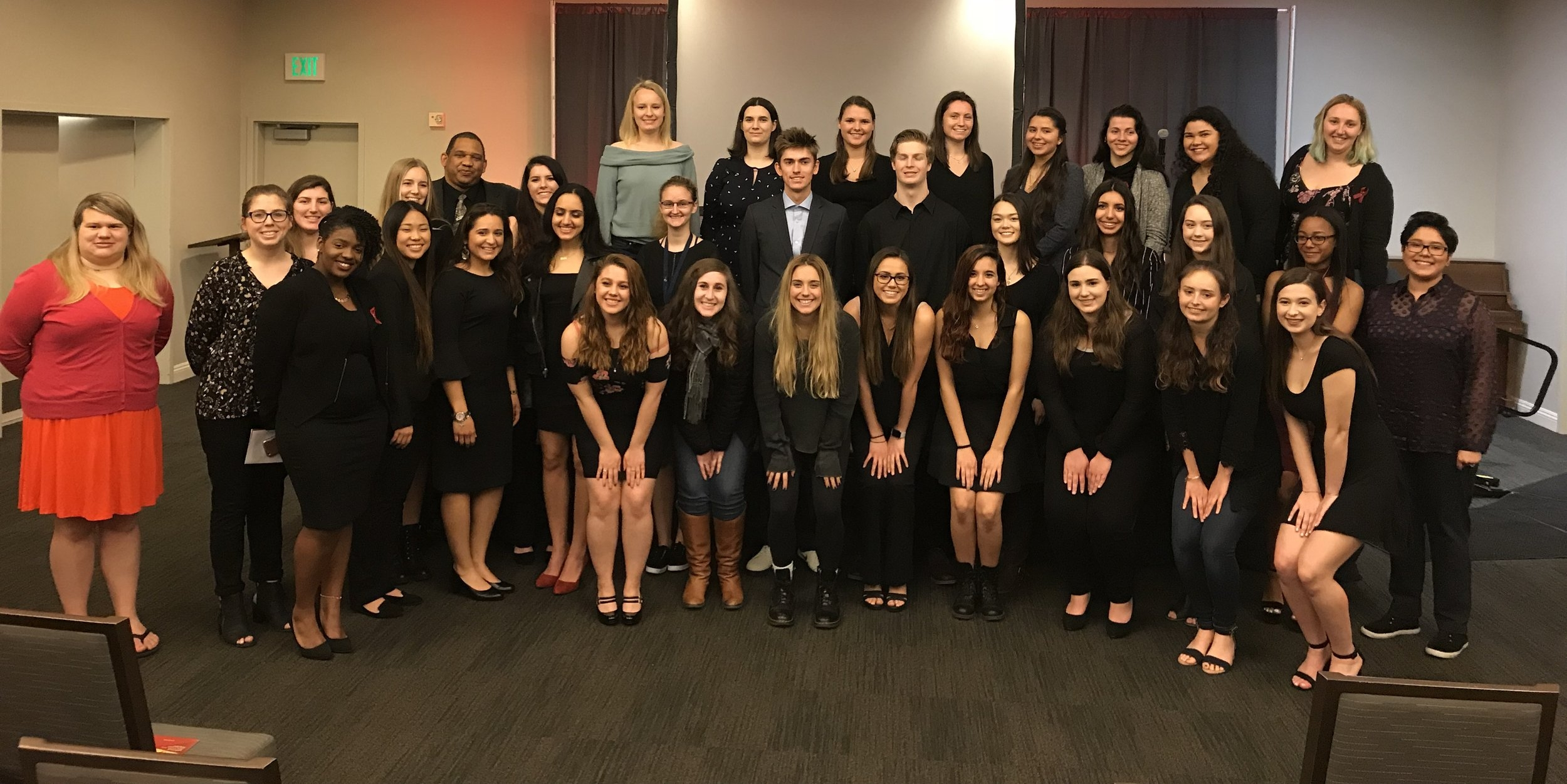 new students at the installation of the sonoma state university chapter