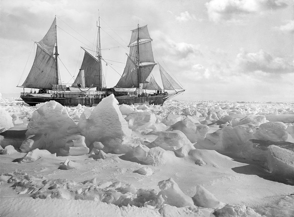 The Endurance. More stunning images from Shackleton's voyage can be   found here  .