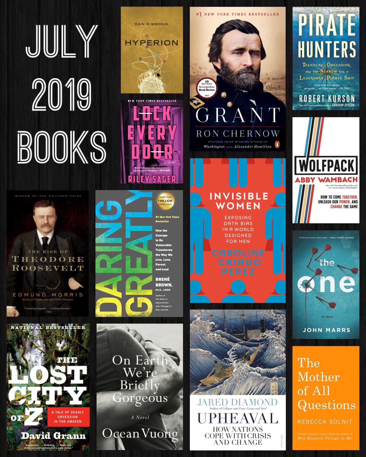 july 2019 books