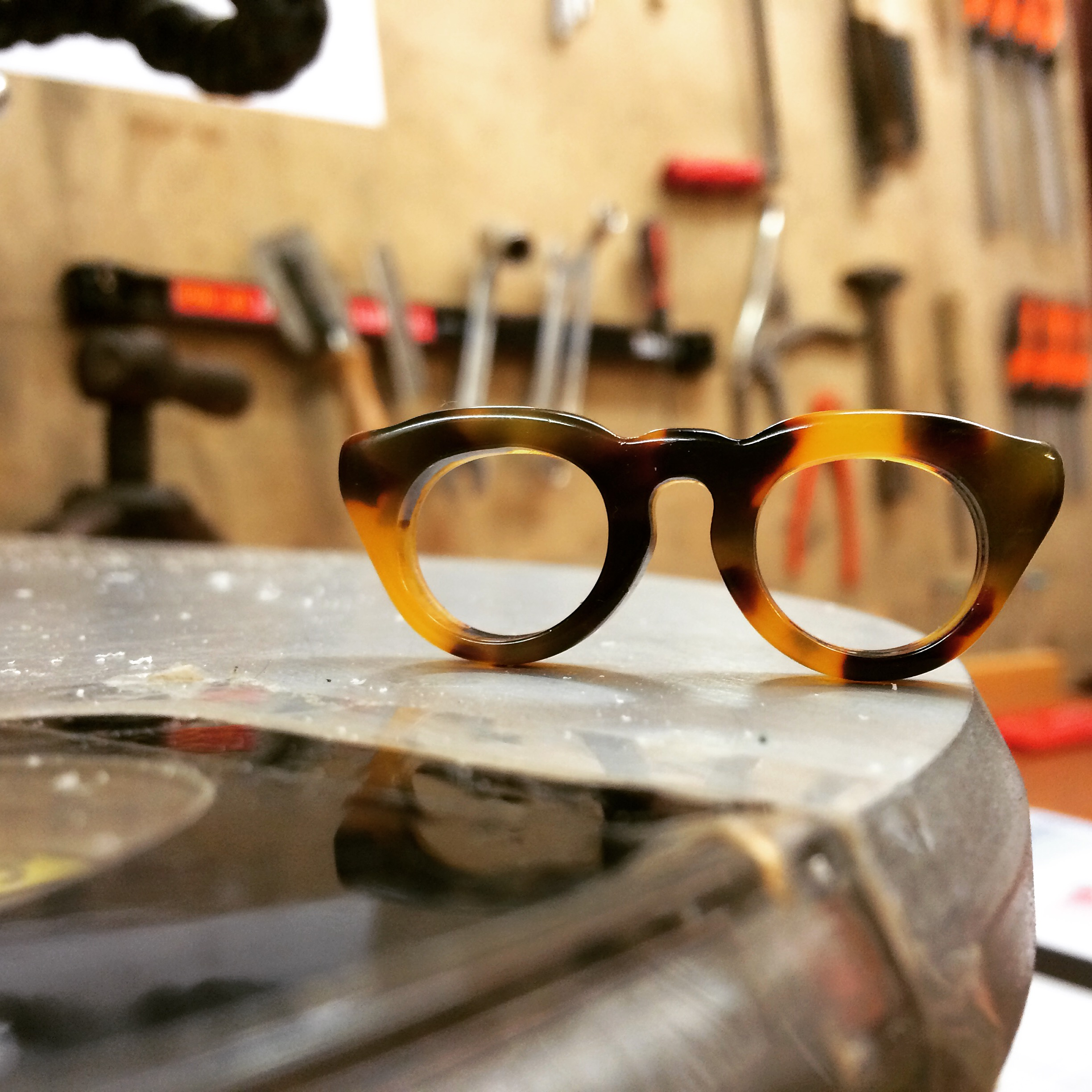 Cute little glasses in the workshop