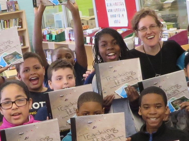 Loree Griffin Burns at Umana Academy in East Boston