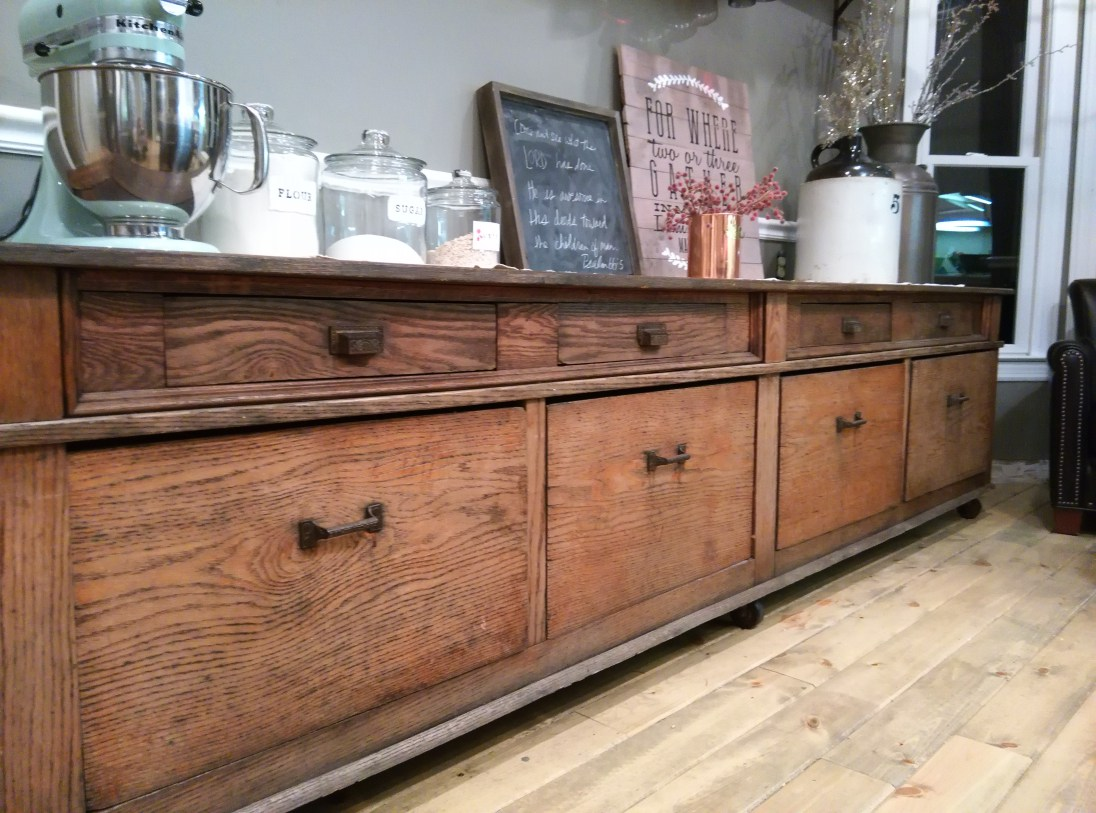 Holly Thompson's vintage mercantile piece, purchased at City Farmhouse