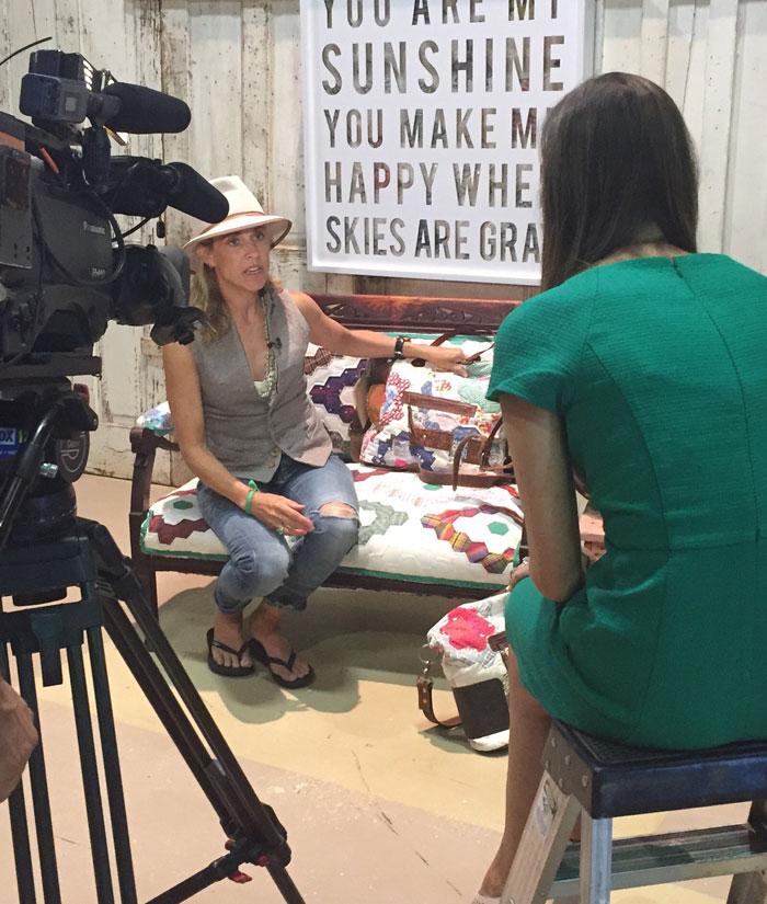 Sheryl Crow being interviewed on Fox 17: Weekend Watch