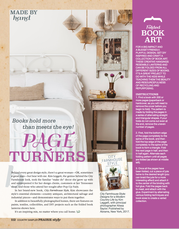 City Farmhouse featured in Country Living