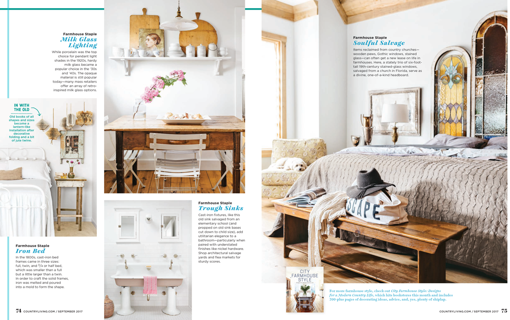 For more farmhouse style, check out City Farmhouse Style: Designs for a Modern Country Life