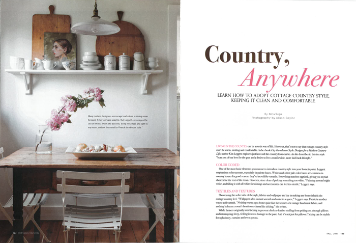 Country, Anywhere... Learn how to adopt Cottage Country Style, Keeping it clean and comfortable