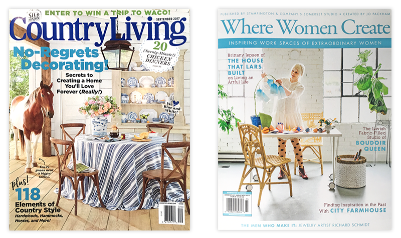 Country Living Magazine and Where Women Create