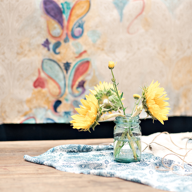 Pretty paisley paper from Hester & Cook in the CMA Fest Green Room | City Farmhouse Interior Design