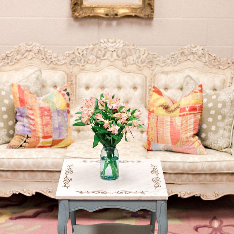Ornate sofa from CR-71 was used in Kelsea Ballerini's dressing room | City Farmhouse Interior Design