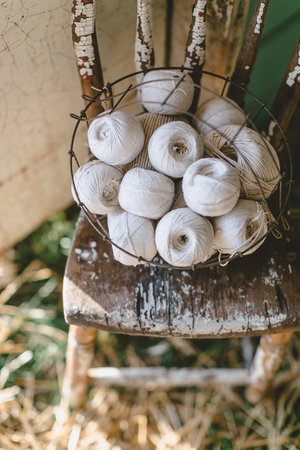 Balls of white twine at the City Farmhouse Pop Up Fair | Franklin, TN