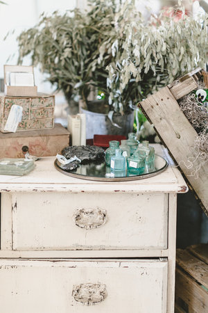 Vintage and antique furniture at the City Farmhouse Pop Up Fair