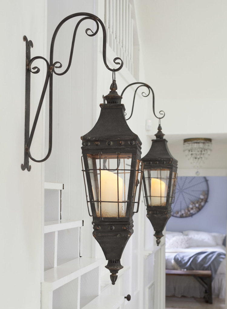Lantern's from JJ Ashley hang in the Storybook Cottage | City Farmhouse
