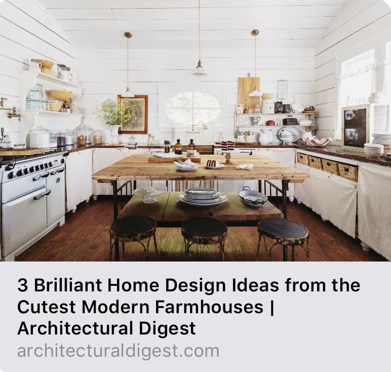Architectural Digest features City Farmhouse