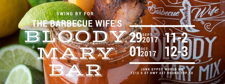 Bloody Mary Bar- September 29 + October 1
