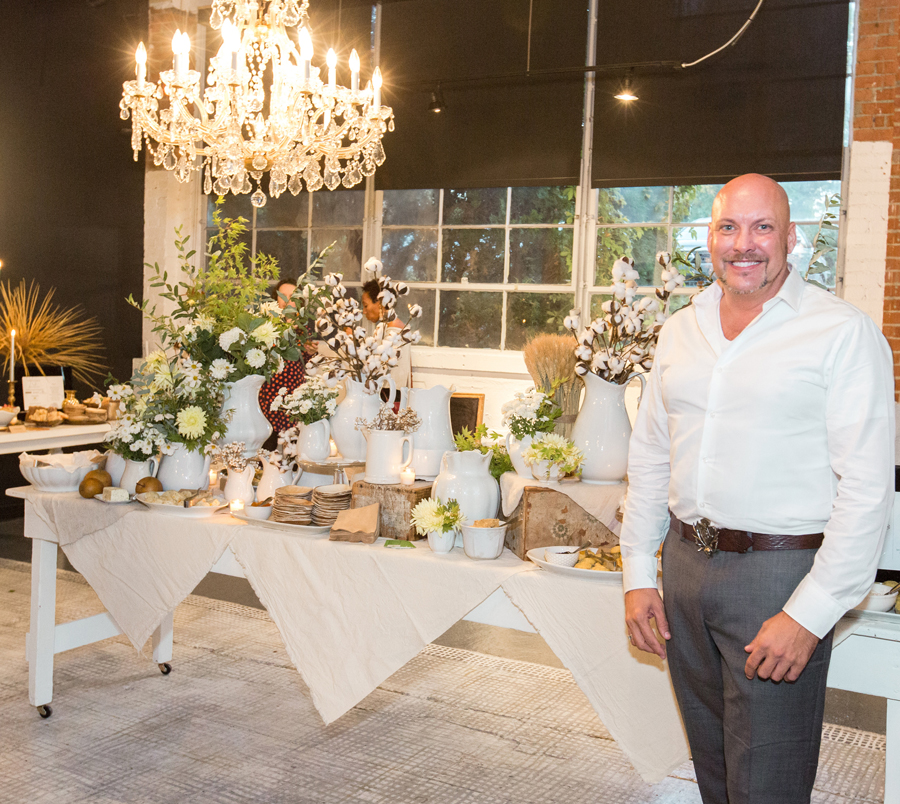 Tablescape Design:  Jason Counce, DIRT Home and Garden  | Serving Display:  Inherited ,  Phillips General Store ,  CR-71  | Catering:  Suzette's Catering ,  Bell Buckle Country Store ,  Captain Rodney's  | Floral:  Natchez Glen House