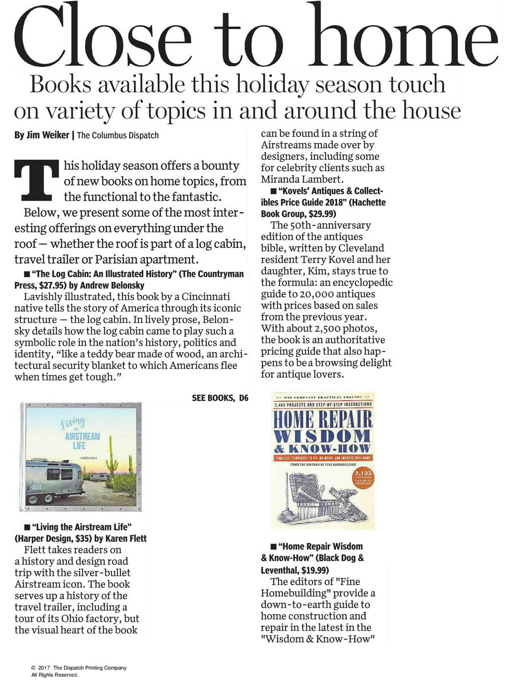 Close to home - The Columbus Dispatch Article