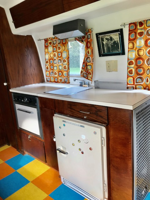 Kitchen inside the airsteam