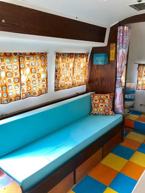 Bench inside Airsteam