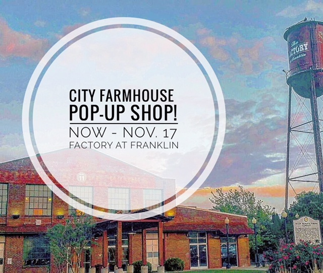 City Farmhouse Pop-Up Shop Now - November 17