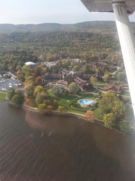 View of Fairmont Hotel Montebello from Seaplane
