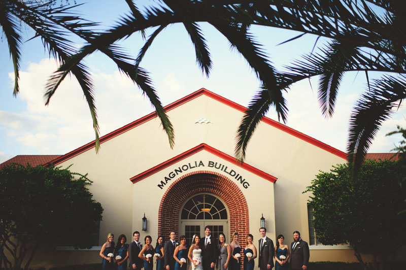 hollis garden wedding: bridal party
