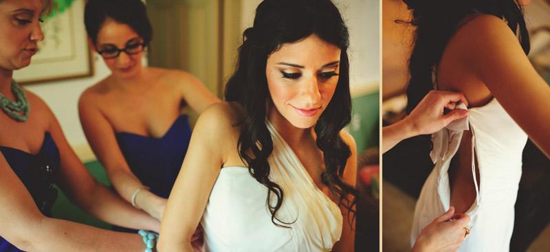 anna maria island wedding: bride getting ready