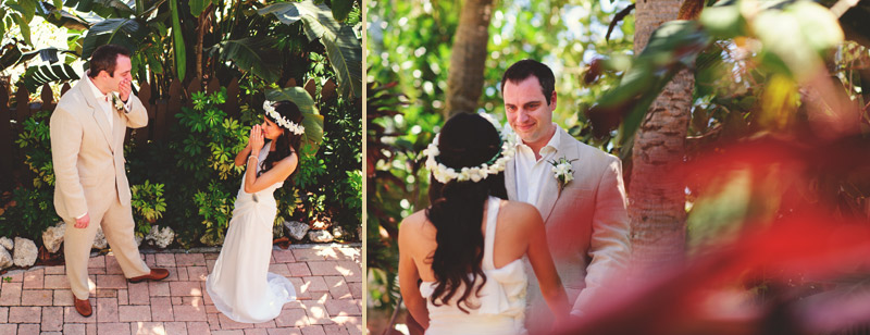 anna maria island wedding: first look