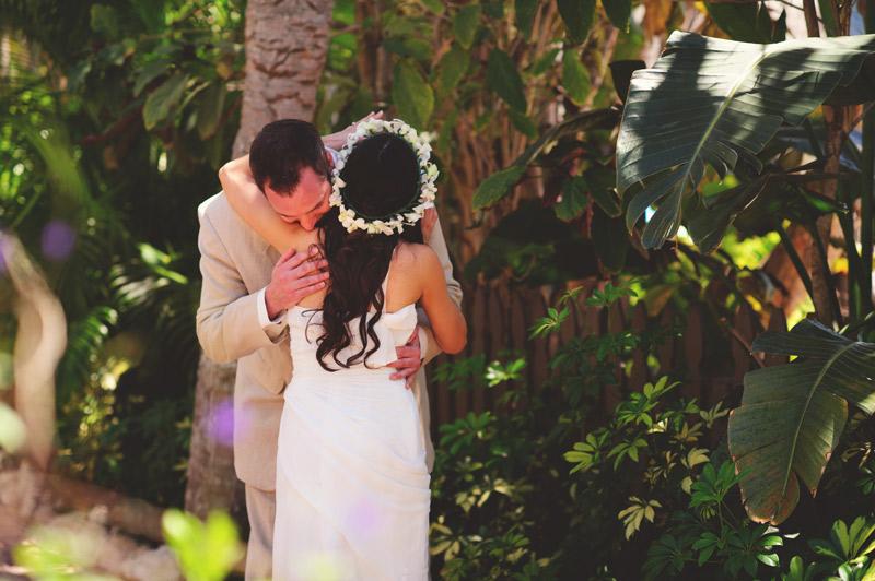 anna maria island wedding: groom crying