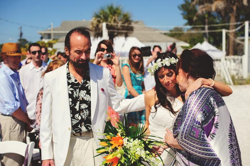 anna maria island wedding: emotional bride