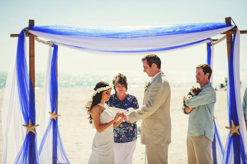 anna maria island wedding: ring exchange