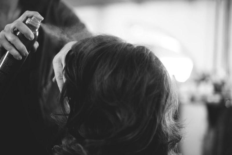 ceviche orlando wedding: hair spray bride