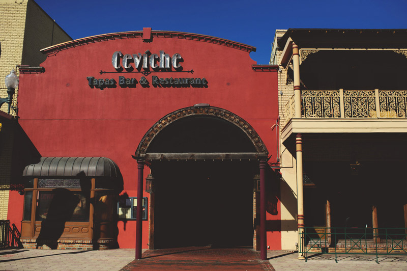 ceviche orlando wedding: front of building