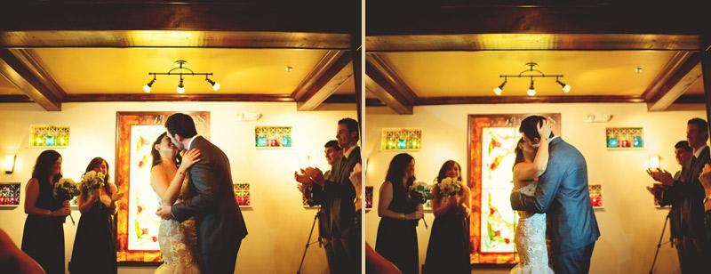 ceviche orlando wedding: first kiss