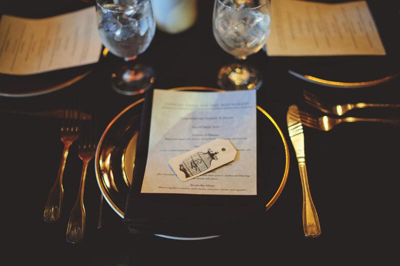 ceviche orlando wedding: place setting