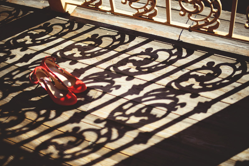 ceviche orlando wedding: bridal orange shoes