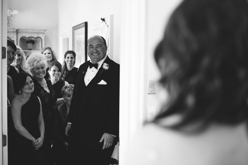 lakewood ranch wedding: first look with father