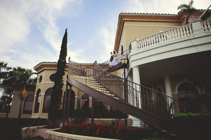 lakewood ranch wedding: bride coming down stairs