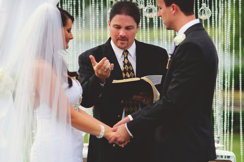 lakewood ranch wedding: pastor and rings