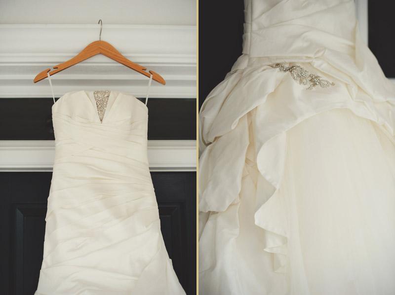 ringling museum wedding: up close details of dress
