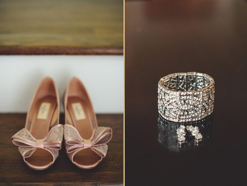 ringling museum wedding: valentino bridal shoes